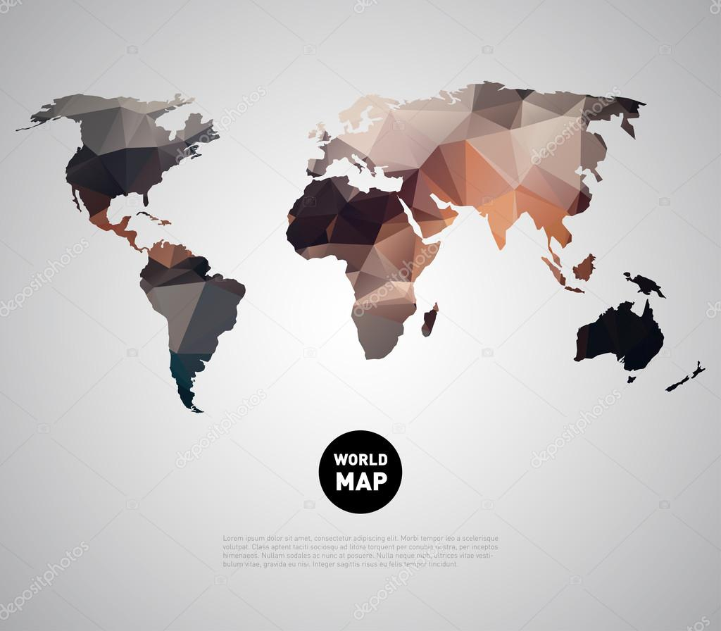 World map background with polygonal triangle stock vector mauro abstract world map background with polygonal triangle style design vector by mauro fabbro gumiabroncs Image collections