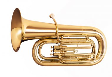 Tuba isolated on white background