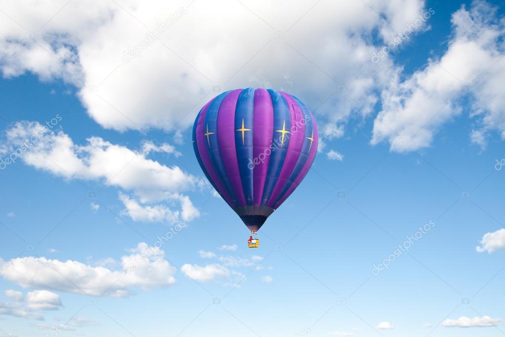 Balloon on clear blue sky