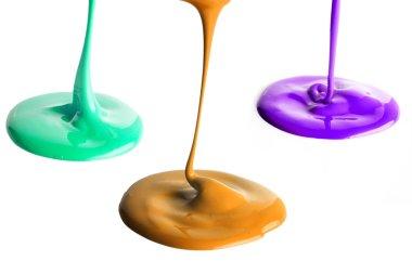 Pouring multiple color paints