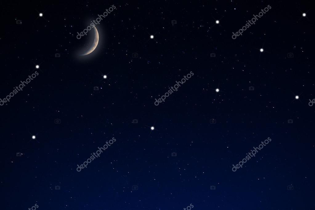 ciel toil avec la lune photographie somchaij 36465445. Black Bedroom Furniture Sets. Home Design Ideas