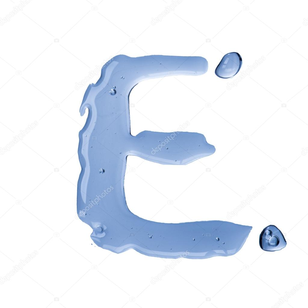 Water Letter E  Stock Photo  Somchaij