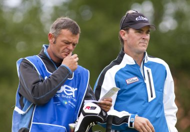 Matthew Zions (AUS) and caddy in action on the third day of the European Tour, 14th Open de Saint-Omer.