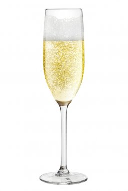 Champagne flute isolated on a white background