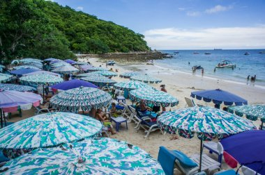 European tour are relaxing on koh larn