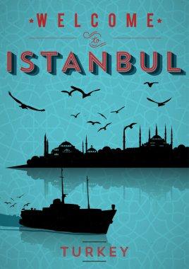 Retro Istanbul Poster