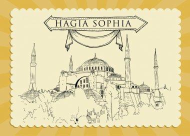 Vintage Hagia Sophia Illustration