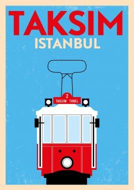 Vintage Taksim Poster