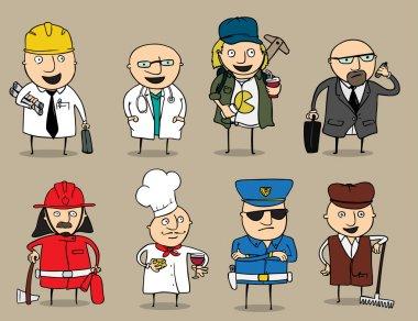 Cartoon Men Jobs Collection