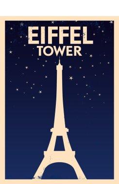 Eiffel Tower Vintage Poster