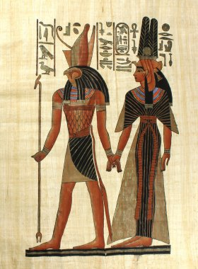 Old egyptian papyrus