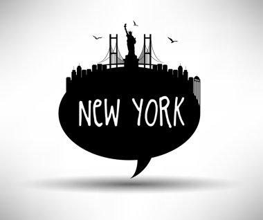 New York City Speech Bubble Design