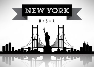 New York Silhoutte with Banner