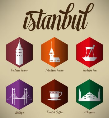 Modern Istanbul Pictograms