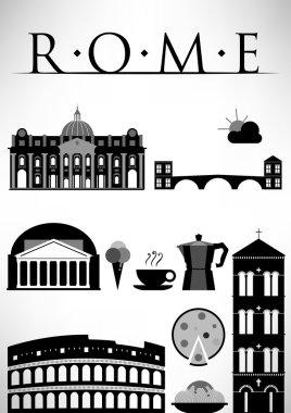 Rome Travel Icons