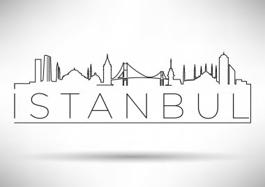 Istanbul Silhouette Typography Design