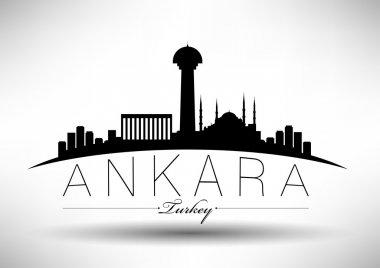 Modern Ankara City Skyline