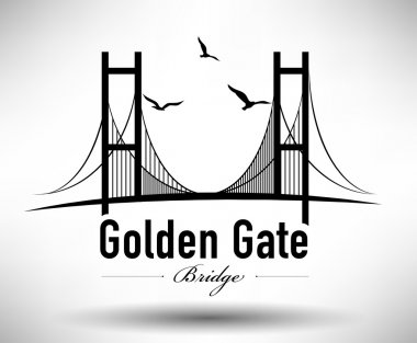 Golden Gate Bridge Typographic Design