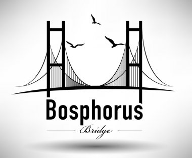 Bosphorus Bridge Typographic Design