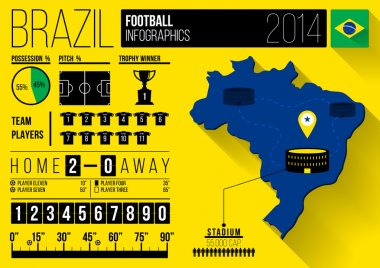 Brazil Football Infographic Design