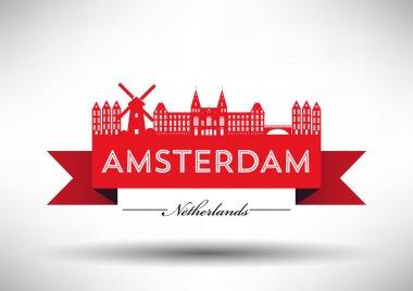 Amsterdam City Typography Design
