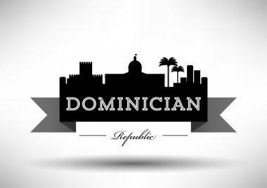Dominician Republic Skyline with Typography Design
