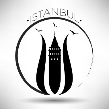 Istanbul Typography Design with Tulip