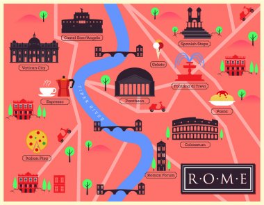 City Map of Rome