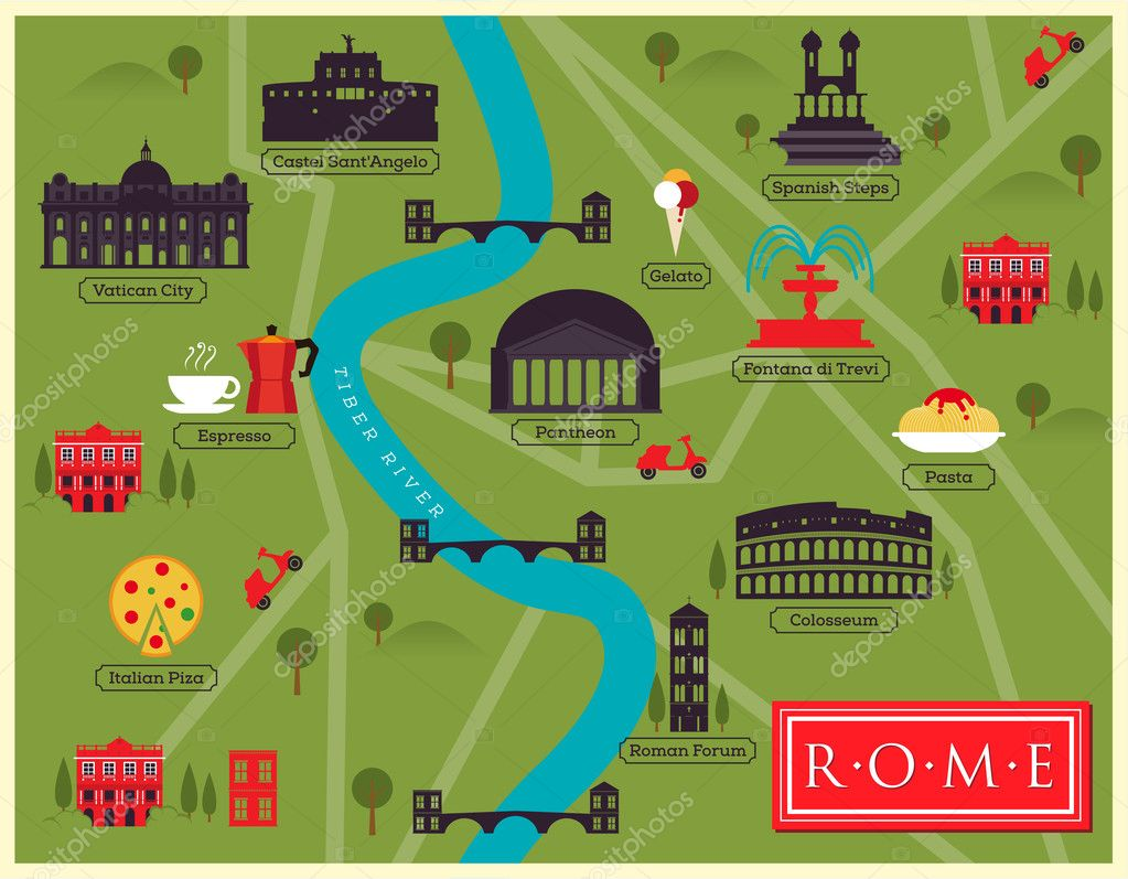 City Map of Rome Stock Vector kursatunsal 50703091