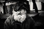 bezdomovec emocionální portrét