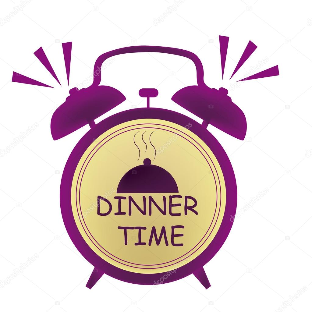 Image result for dinnertime clock