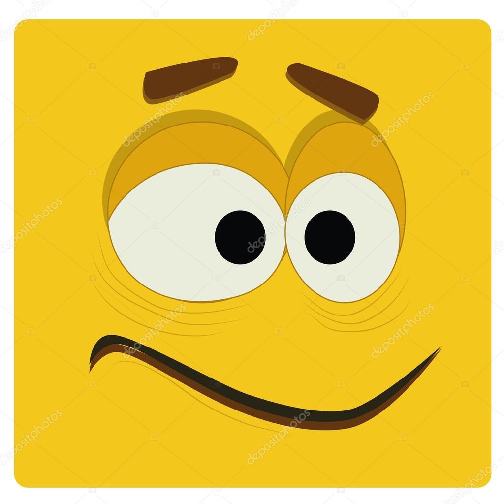 黄色い顔 — ストックベクター © ...