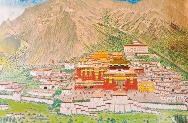 View painting at Ramtek Monastery in Gungtok