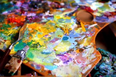 Palette with palette knife