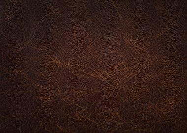 Brown leather texture closeup stock vector