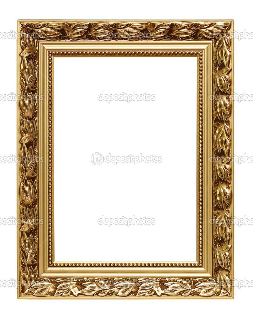 Golden Kunst Rahmen isoliert auf weiss — Stockfoto © strixcode #29725841