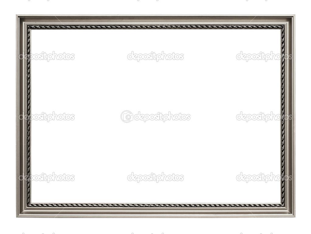 Silber Kunst Rahmen isoliert auf weiss — Stockfoto © strixcode #29726611