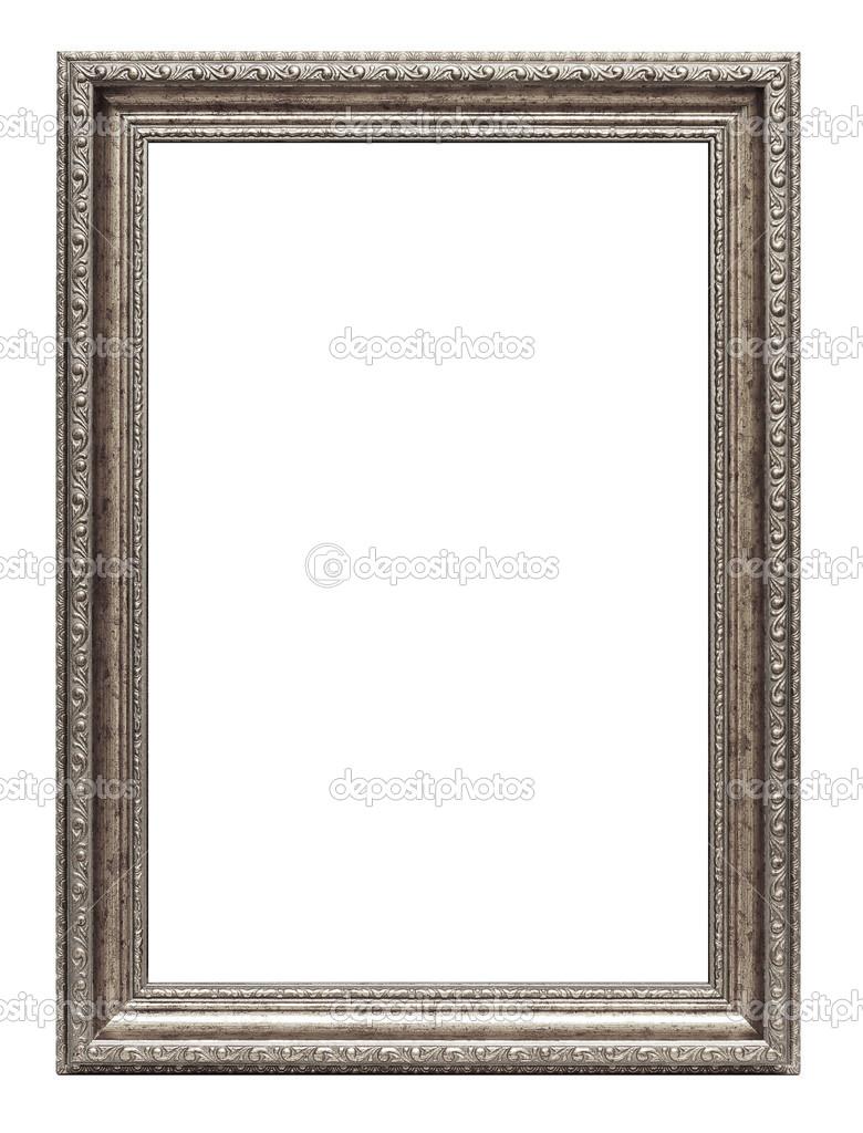 Silber Kunst Rahmen isoliert auf weiss — Stockfoto © strixcode #29726655