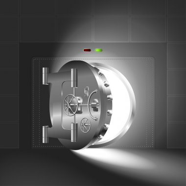 Light half-open door safe steel
