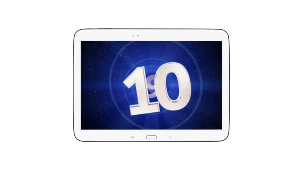 16:10 Tablet visszaszámlálás a greenscreen a videó