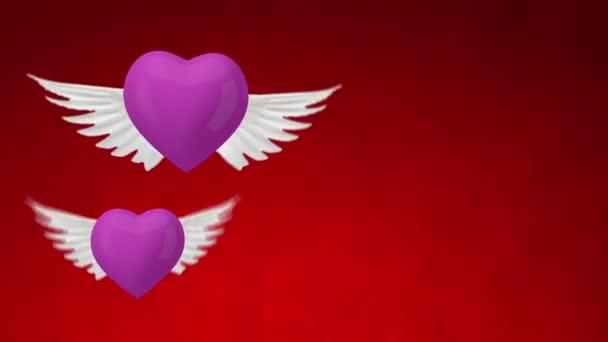 szív Wings. nő és férfi