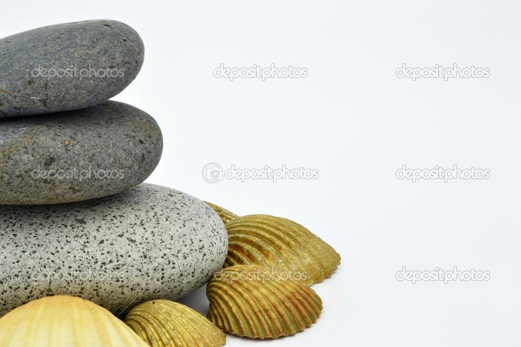 Zen stones with conch