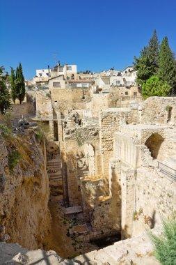 """Картина, постер, плакат, фотообои """"Строительство древнего Иерусалима в Израиле"""", артикул 32238861"""