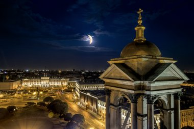 View from the Colonnade of St Isaac's Cathedral in St. Petersbur