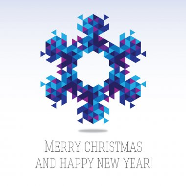 Business greeting christmas and New year card.