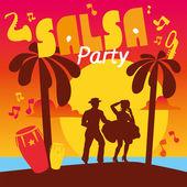 Fotografie Salsa tanzen-Poster für die party