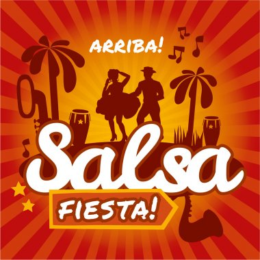 Salsa dancing poster for the party.