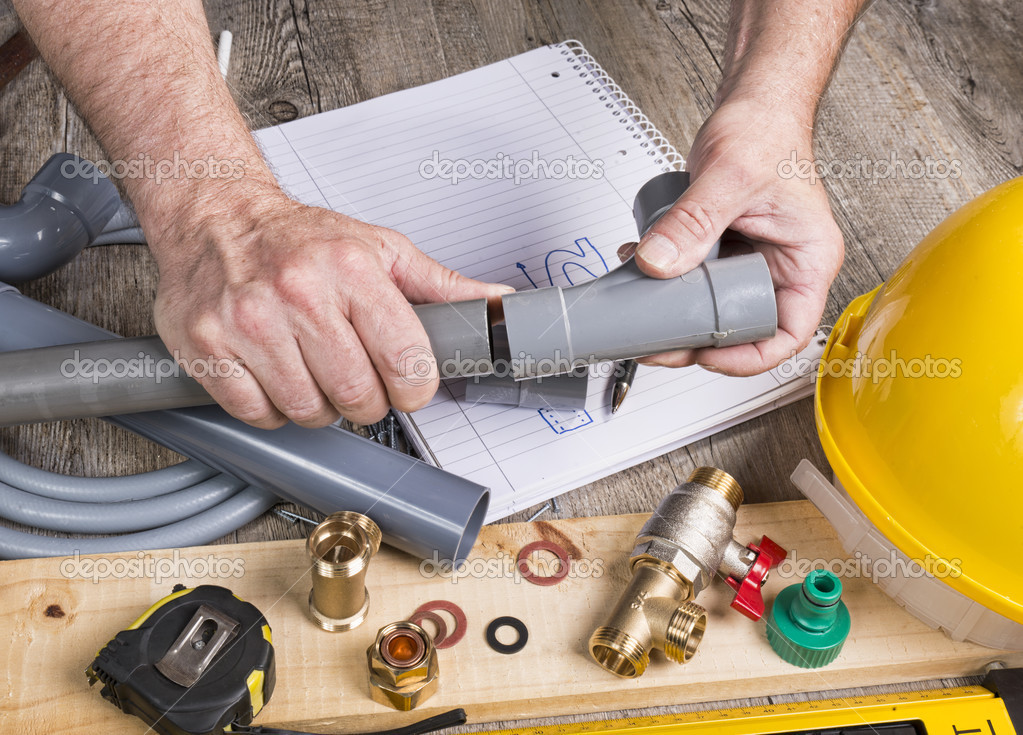 Plumbing do it yourself with different tools stock photo plumbing do it yourself with different tools stock photo solutioingenieria Image collections