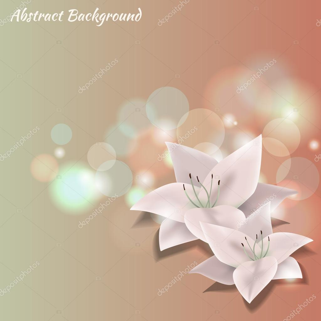 Vector colorful background with flowers