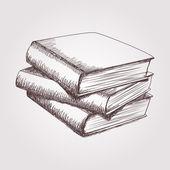 Bücherstapel gezeichnet  Haufen alter Bücher Jahrgang gezeichneten Vektor Skizze ...